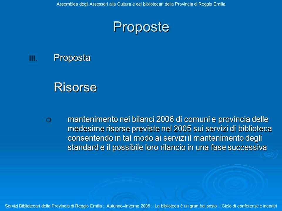 Proposte III.