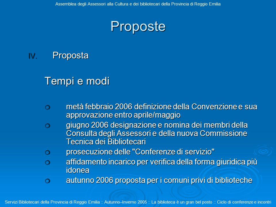 Proposte IV.