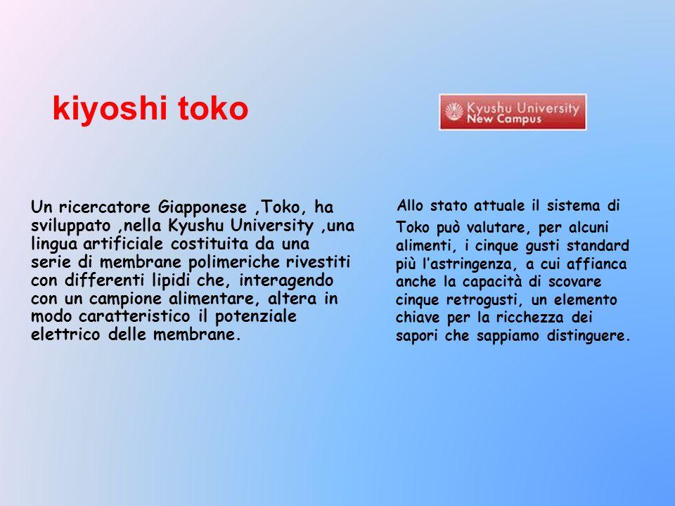 Allo stato attuale il sistema di Toko può valutare, per alcuni alimenti, i cinque gusti standard più l'astringenza, a cui affianca anche la capacità d