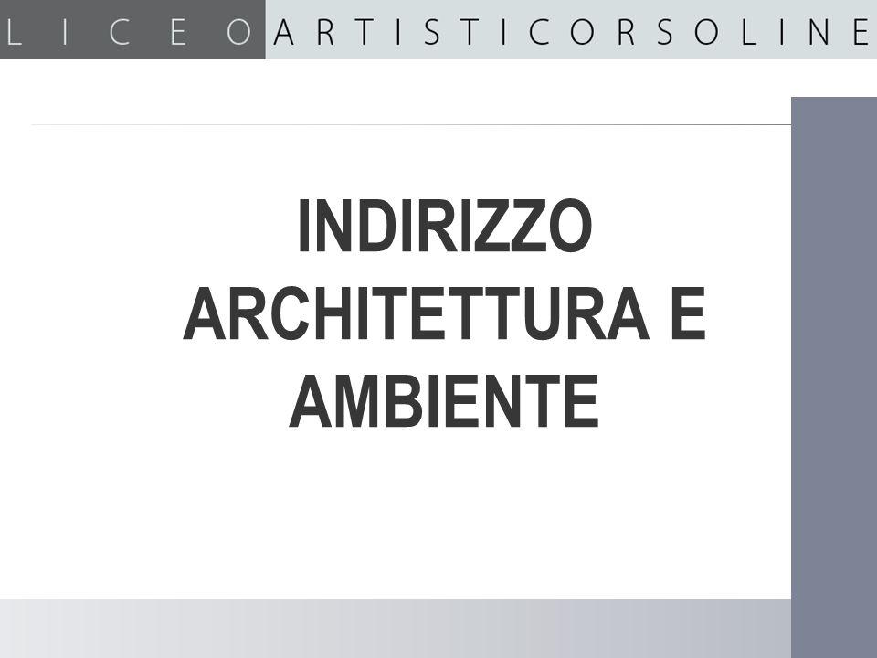 INDIRIZZO ARCHITETTURA E AMBIENTE