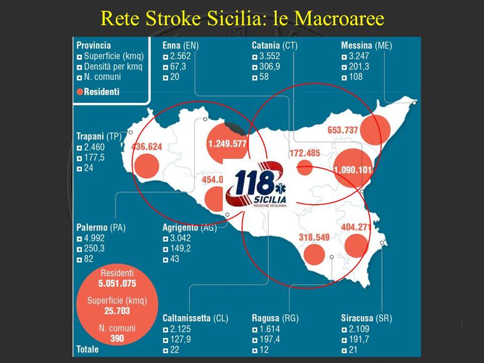 Rete Stroke Sicilia: le Macroaree