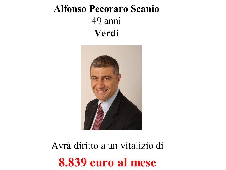 Franco Giordano 51 anni Rifondazione Avrà diritto a un vitalizio di 6.203 euro al mese