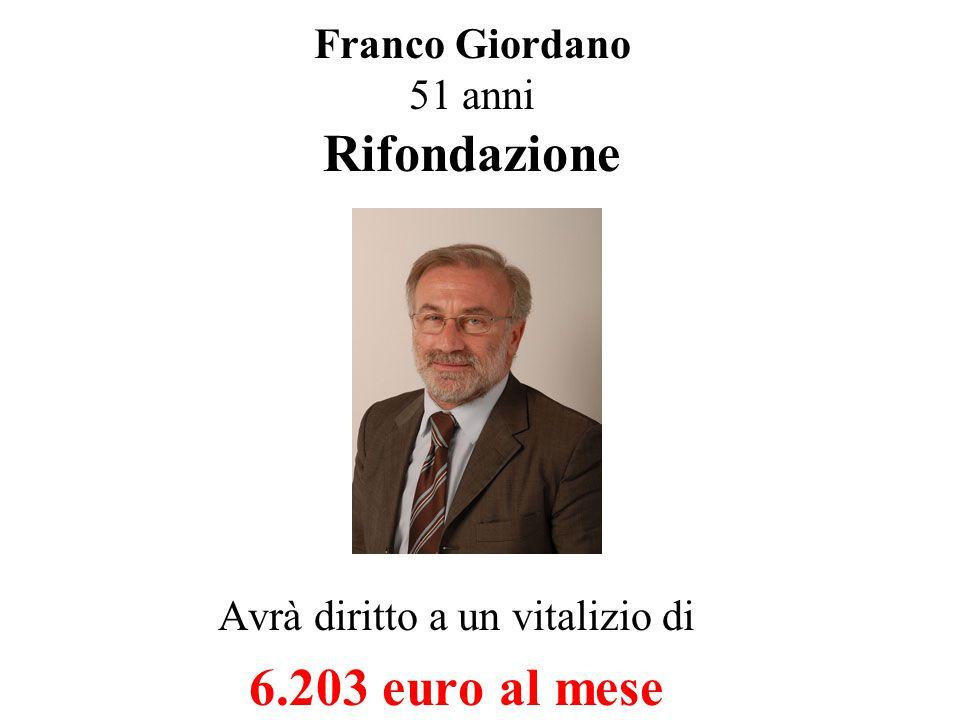Enrico Boselli 51 anni Socialisti Avrà diritto a un vitalizio di 7.959 euro al mese
