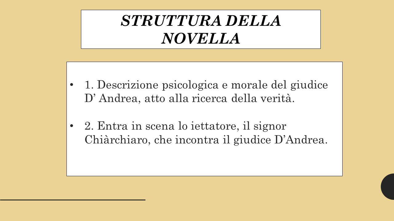 STRUTTURA DELLA NOVELLA 1.
