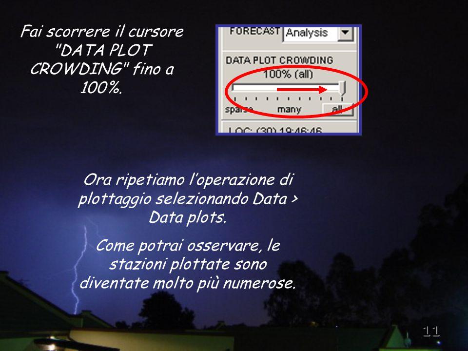 11 Ora ripetiamo l'operazione di plottaggio selezionando Data > Data plots.