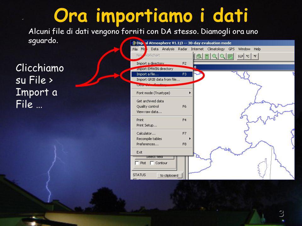 3.Alcuni file di dati vengono forniti con DA stesso.