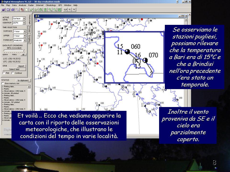 9 Per cancellare i dati plottati, è sufficiente scegliere Map > Erase map.