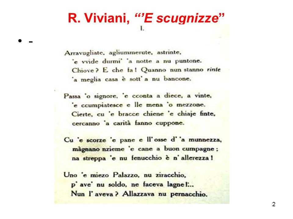 2 R. Viviani, 'E scugnizze -