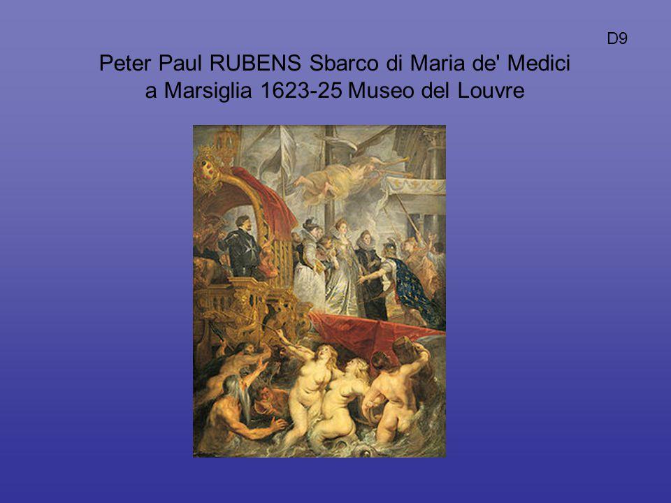 Peter Paul RUBENS Sbarco di Maria de' Medici a Marsiglia 1623-25 Museo del Louvre D9