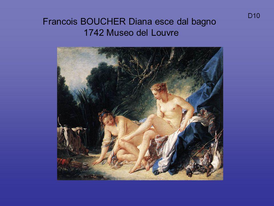 Francois BOUCHER Diana esce dal bagno 1742 Museo del Louvre D10