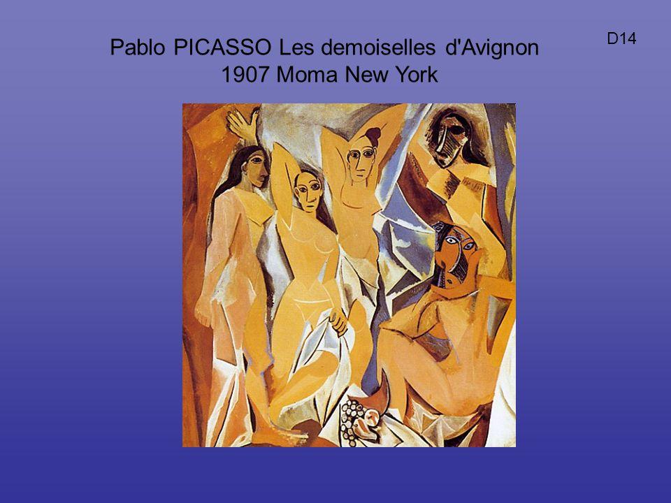 Pablo PICASSO Les demoiselles d'Avignon 1907 Moma New York D14