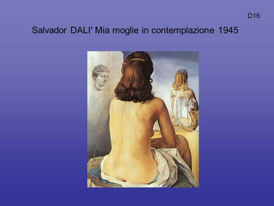Salvador DALI' Mia moglie in contemplazione 1945 D16