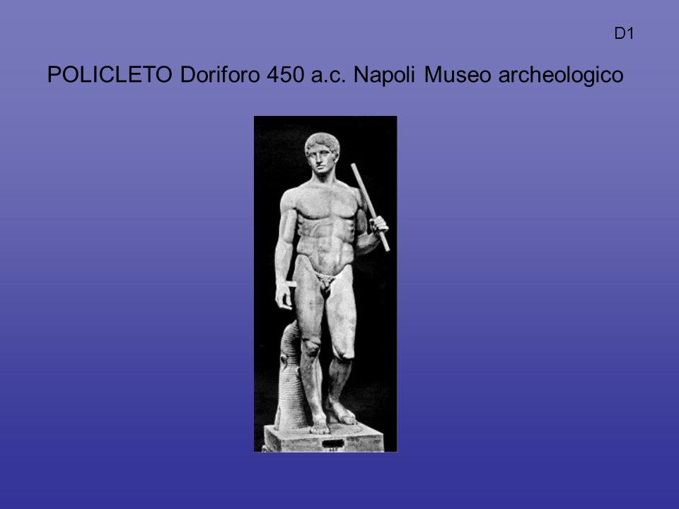 POLICLETO Doriforo 450 a.c. Napoli Museo archeologico D1