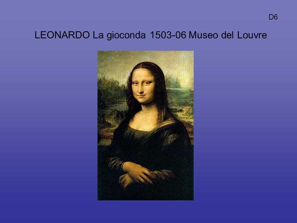 D6 LEONARDO La gioconda 1503-06 Museo del Louvre