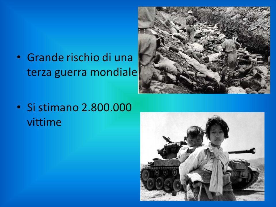 Grande rischio di una terza guerra mondiale Si stimano 2.800.000 vittime