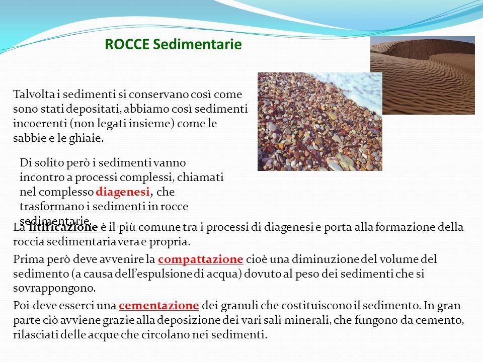 Di solito però i sedimenti vanno incontro a processi complessi, chiamati nel complesso diagenesi, che trasformano i sedimenti in rocce sedimentarie.