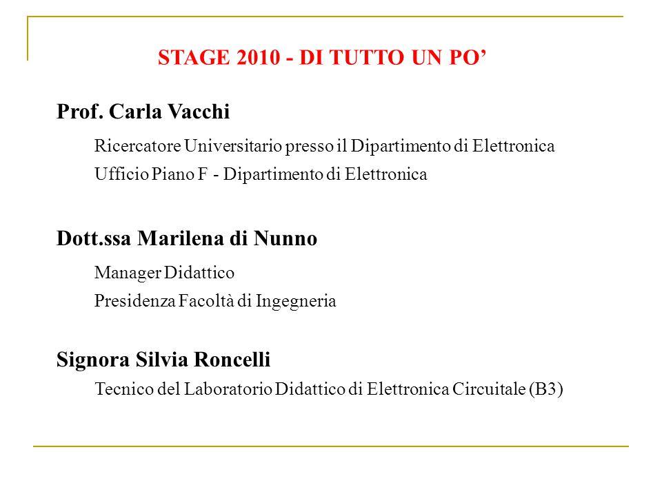STAGE 2010 - DI TUTTO UN PO' Prof.