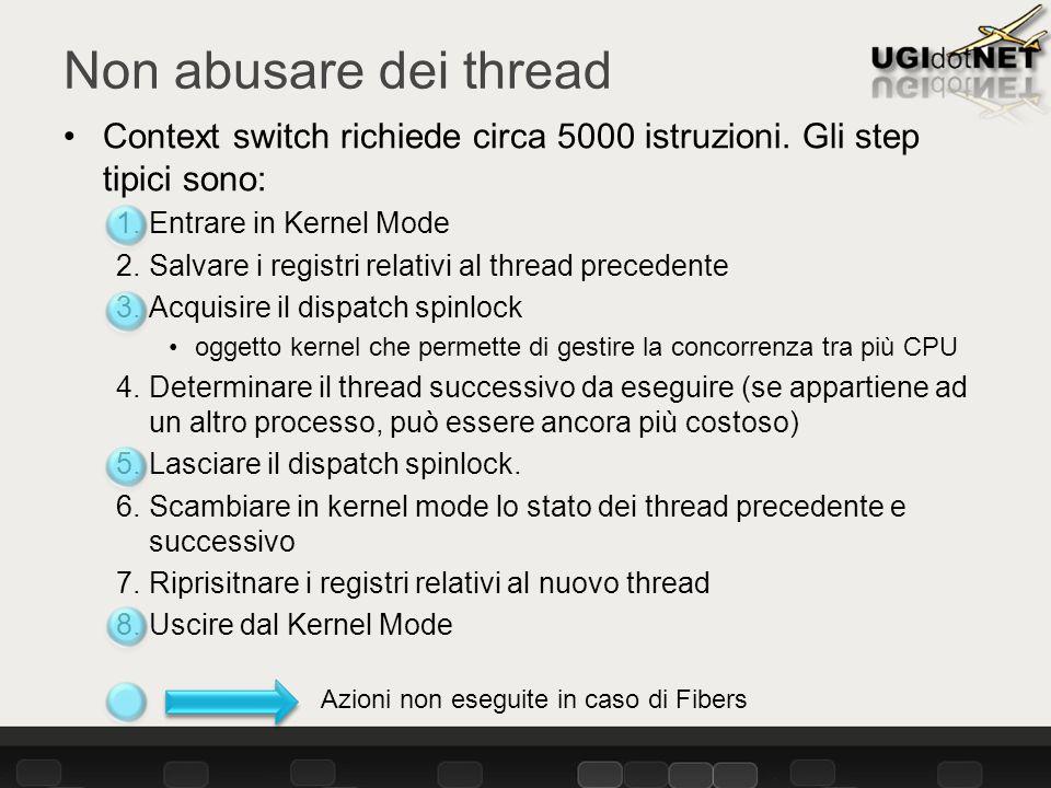 Context switch richiede circa 5000 istruzioni.
