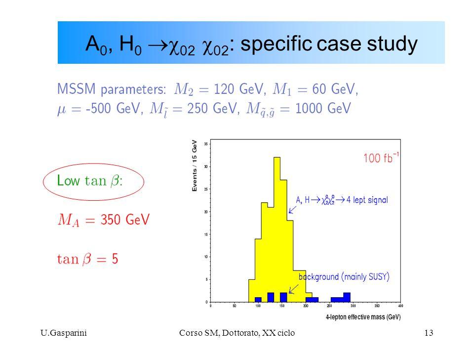 U.GaspariniCorso SM, Dottorato, XX ciclo13 A 0, H 0  02  02 : specific case study