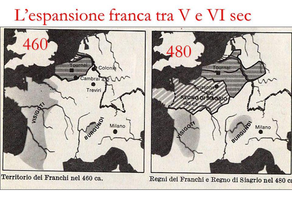 460 480 L'espansione franca tra V e VI sec