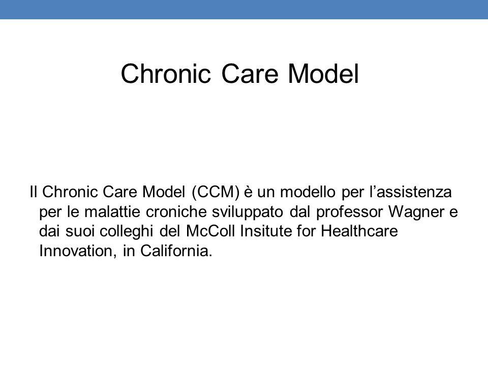 Il Chronic Care Model (CCM) è un modello per l'assistenza per le malattie croniche sviluppato dal professor Wagner e dai suoi colleghi del McColl Insi