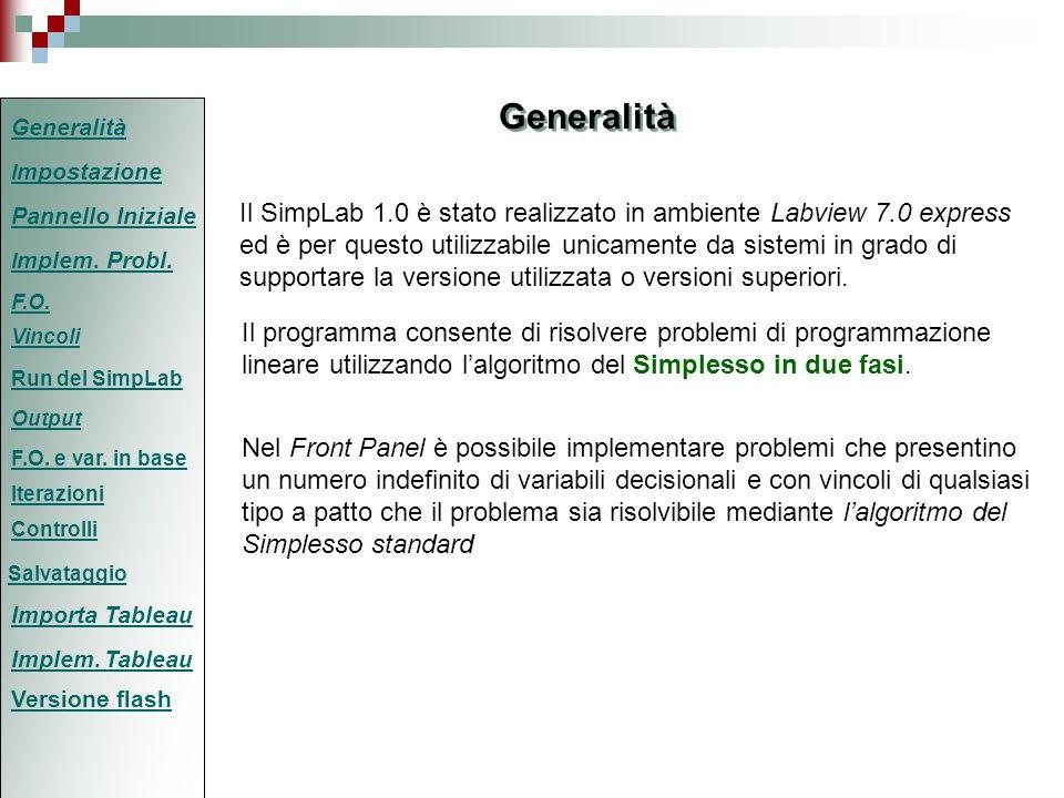 Il programma consente di risolvere problemi di programmazione lineare utilizzando l'algoritmo del Simplesso in due fasi.