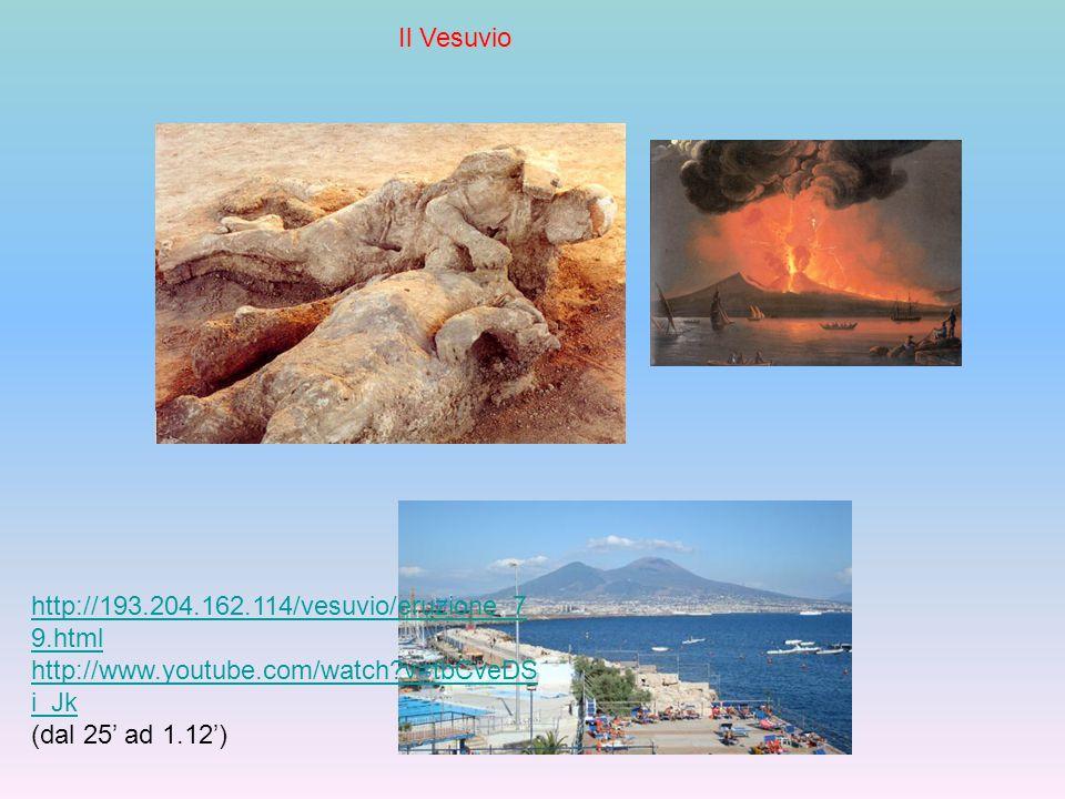 IlVesuvio Il Vesuvio http://193.204.162.114/vesuvio/eruzione_7 9.html http://www.youtube.com/watch?v=tbCveDS i_Jk (dal 25' ad 1.12')