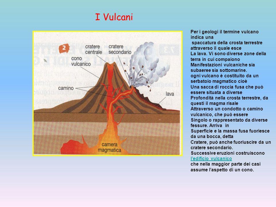 Per i geologi il termine vulcano indica una spaccatura della crosta terrestre attraverso il quale esce La lava.