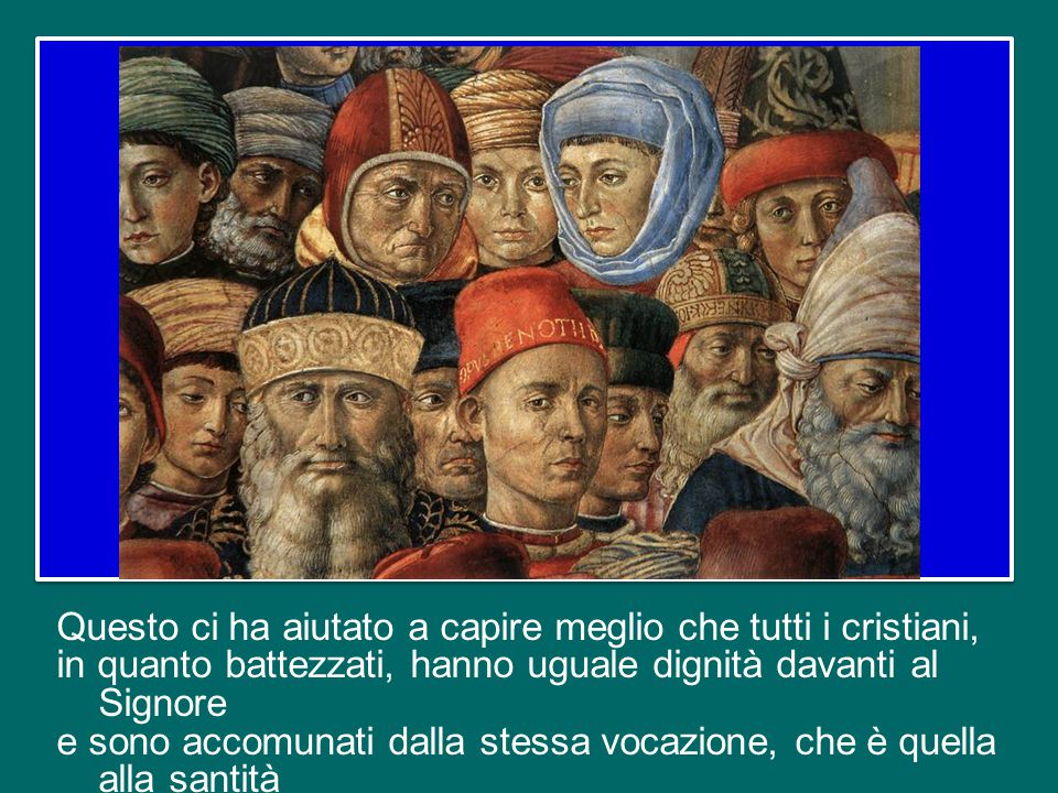 Un grande dono del Concilio Vaticano II è stato quello di aver recuperato una visione di Chiesa fondata sulla comunione, e di aver ricompreso anche il principio dell'autorità e della gerarchia in tale prospettiva.