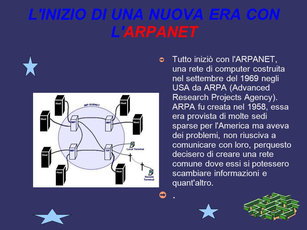 LA SUA STORIA La storia di internet è direttamente collegata alle reti di comunicazioni, l'idea di comunicare attraverso differenti computer è venuta