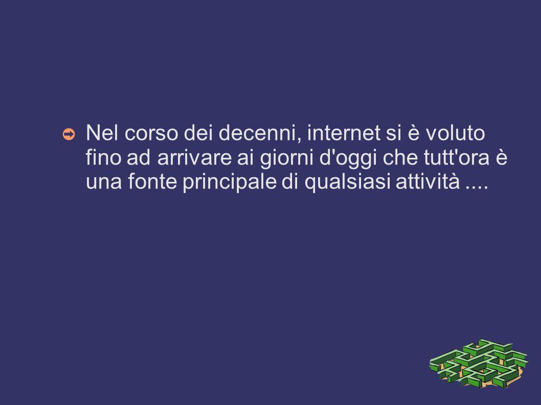 L'ultimo passaggio con il world Wide Web ➲ Nel 1991 da Tim Berners-Lee creò un progetto chiamato HTTP. Esso era un sistema che permette una lettura ip