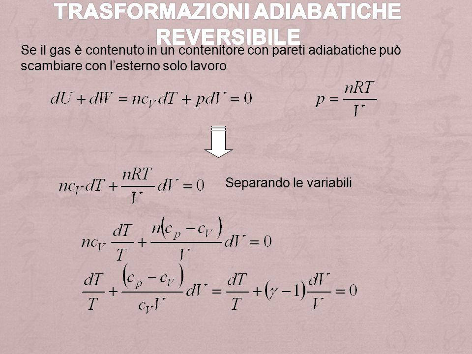 Osserviamo che le trasformazioni BC e DA sono di tipo adiabatico, per cui: