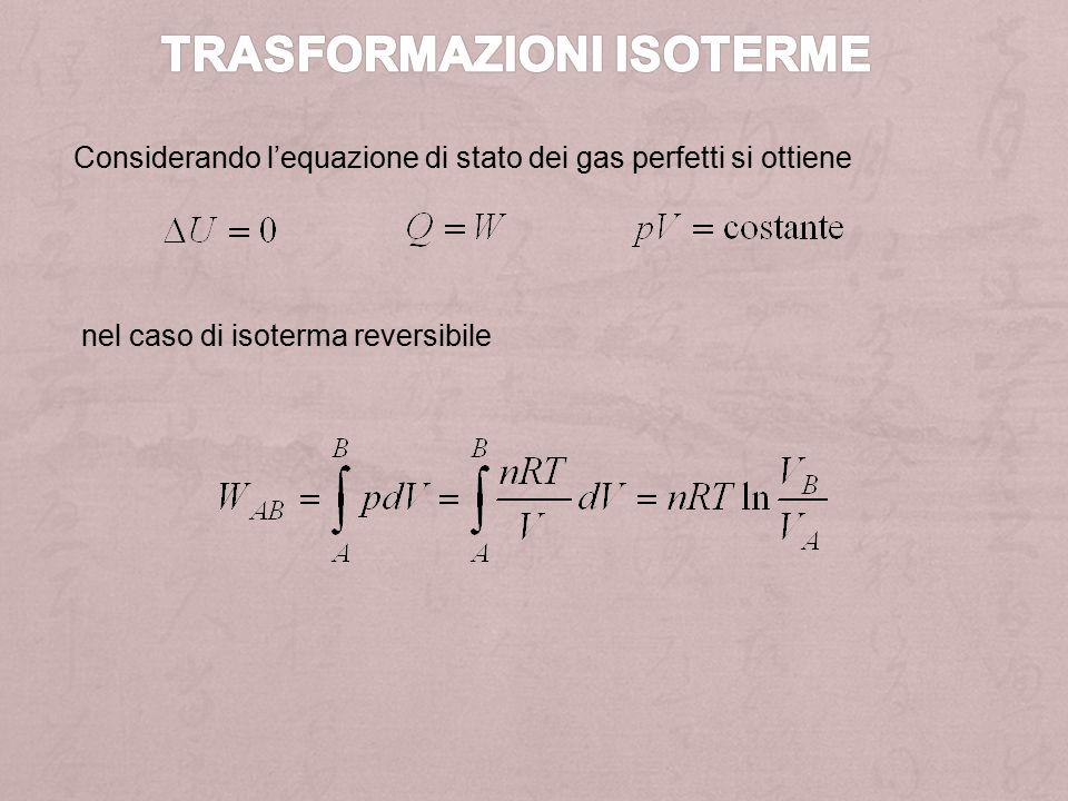 nel caso di isoterma reversibile