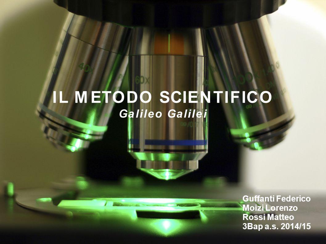 IL METODO SCIENTIFICO Galileo Galilei Guffanti Federico Moizi Lorenzo Rossi Matteo 3Bap a.s.