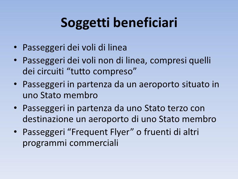 Diritti dei passeggeri Art.8 Diritto al rimborso o all'imbarco su un volo alternativo Art.