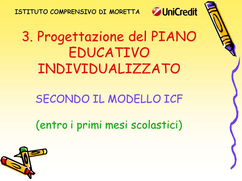 3. Progettazione del PIANO EDUCATIVO INDIVIDUALIZZATO SECONDO IL MODELLO ICF (entro i primi mesi scolastici) ISTITUTO COMPRENSIVO DI MORETTA