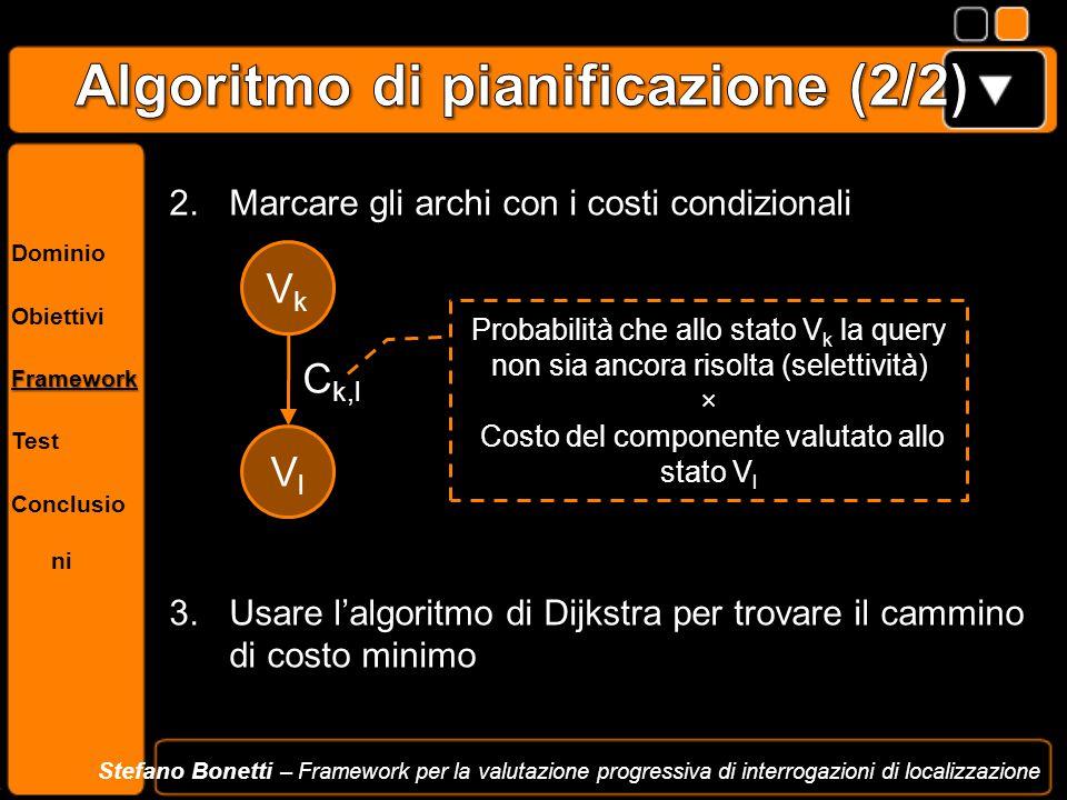 Dominio ObiettiviFramework Test Conclusio ni Stefano Bonetti – Framework per la valutazione progressiva di interrogazioni di localizzazione 2.Marcare