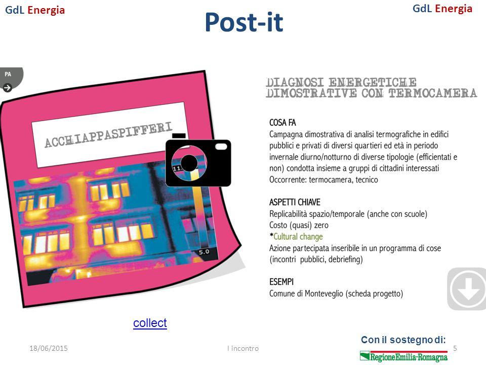 GdL Energia Con il sostegno di: Post-it 18/06/2015I incontro5 collect