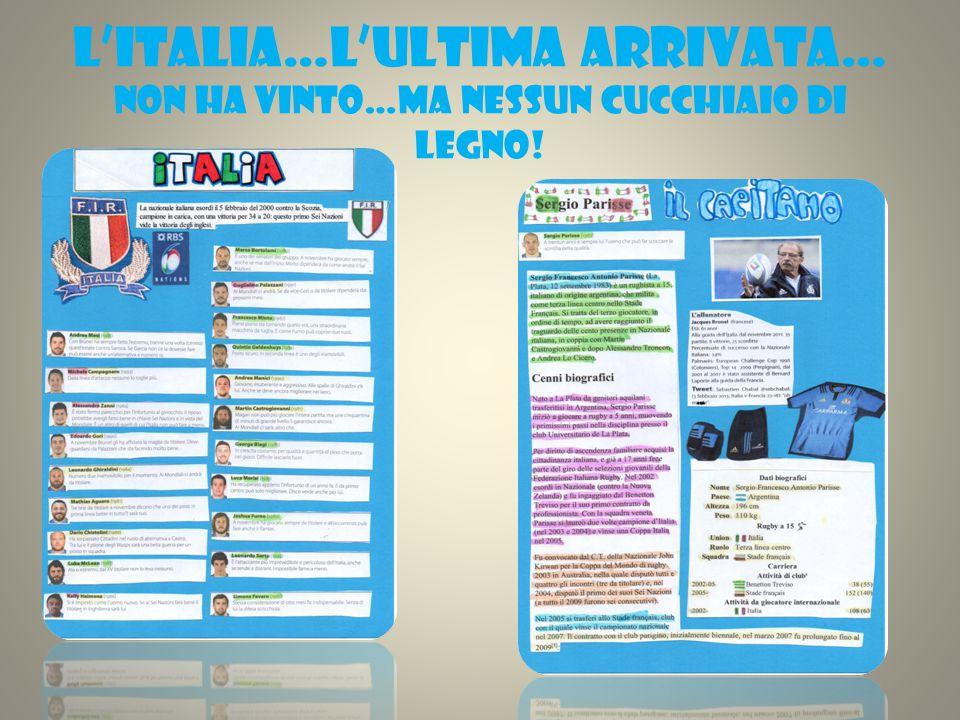 L'ITALIA…L'ULTIMA ARRIVATA… NON HA VINTO…MA NESSUN CUCCHIAIO DI LEGNO!