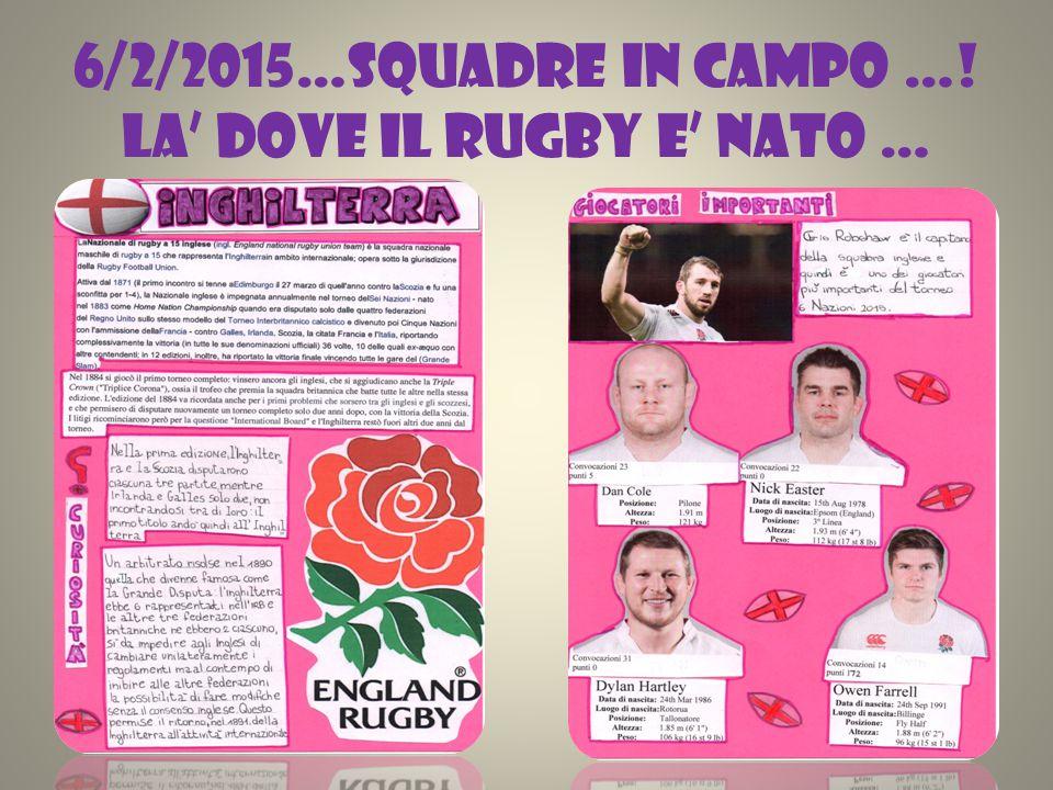 6/2/2015…SQUADRE IN CAMPO …! LA' DOVE IL RUGBY E' NATO …