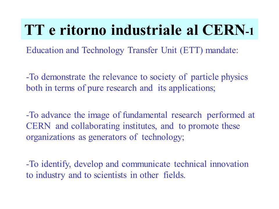 ETT al CERN -2 Education and Technology Transfer Unit [ETT] Head C.
