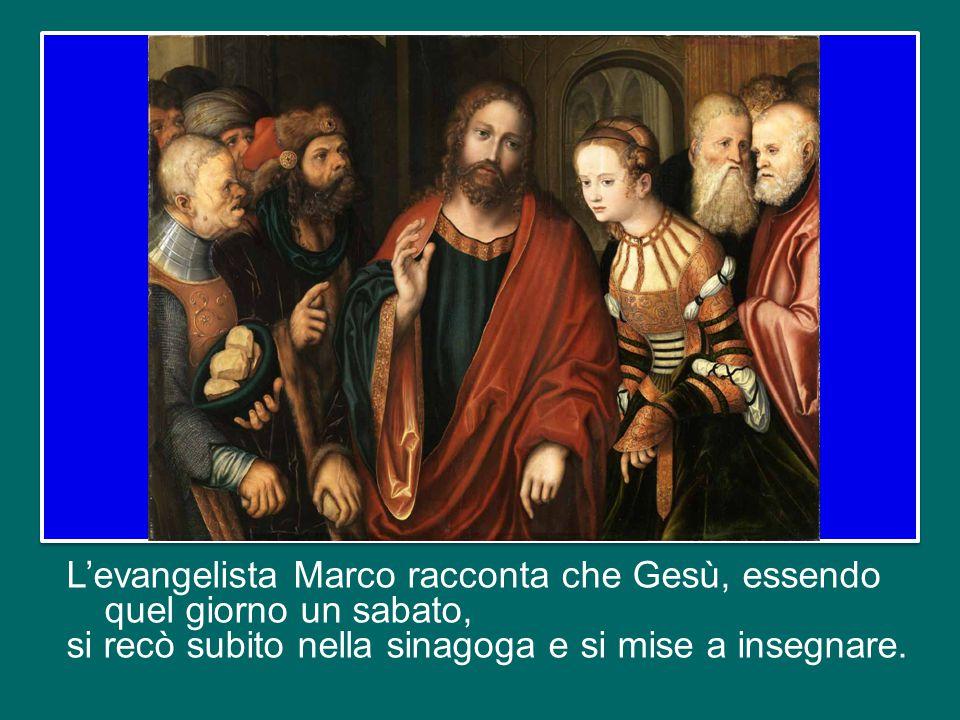 Il brano evangelico di questa domenica (cfr Mc 1,21- 28) presenta Gesù che, con la sua piccola comunità di discepoli, entra a Cafarnao, la città dove viveva Pietro e che in quei tempi era la più grande della Galilea.
