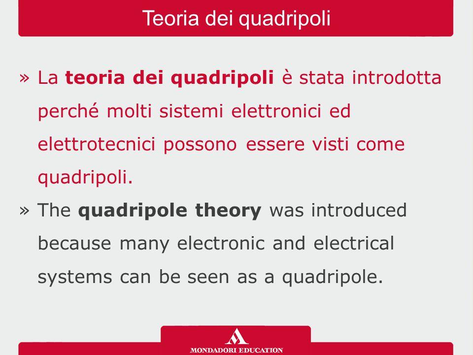 »La teoria dei quadripoli è stata introdotta perché molti sistemi elettronici ed elettrotecnici possono essere visti come quadripoli.