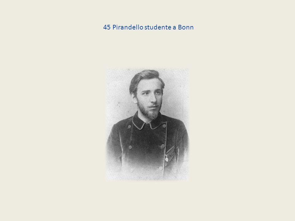 45 Pirandello studente a Bonn