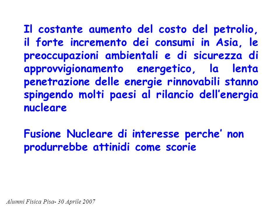 Il costante aumento del costo del petrolio, il forte incremento dei consumi in Asia, le preoccupazioni ambientali e di sicurezza di approvvigionamento