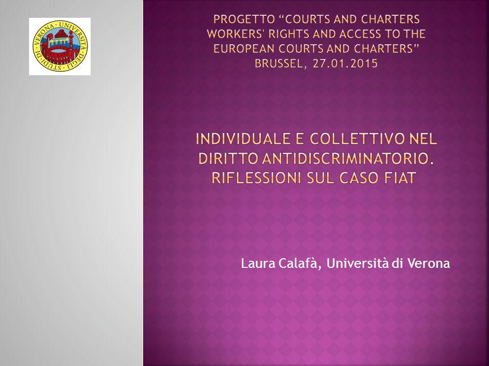 Laura Calafà, Università di Verona