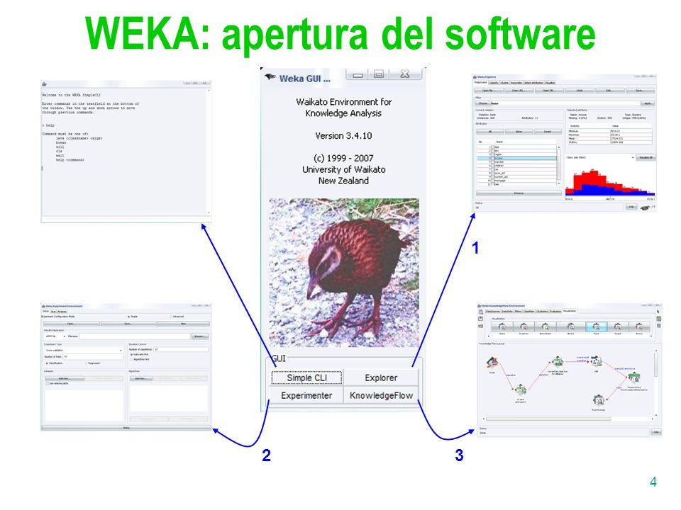 4 1 23 WEKA: apertura del software