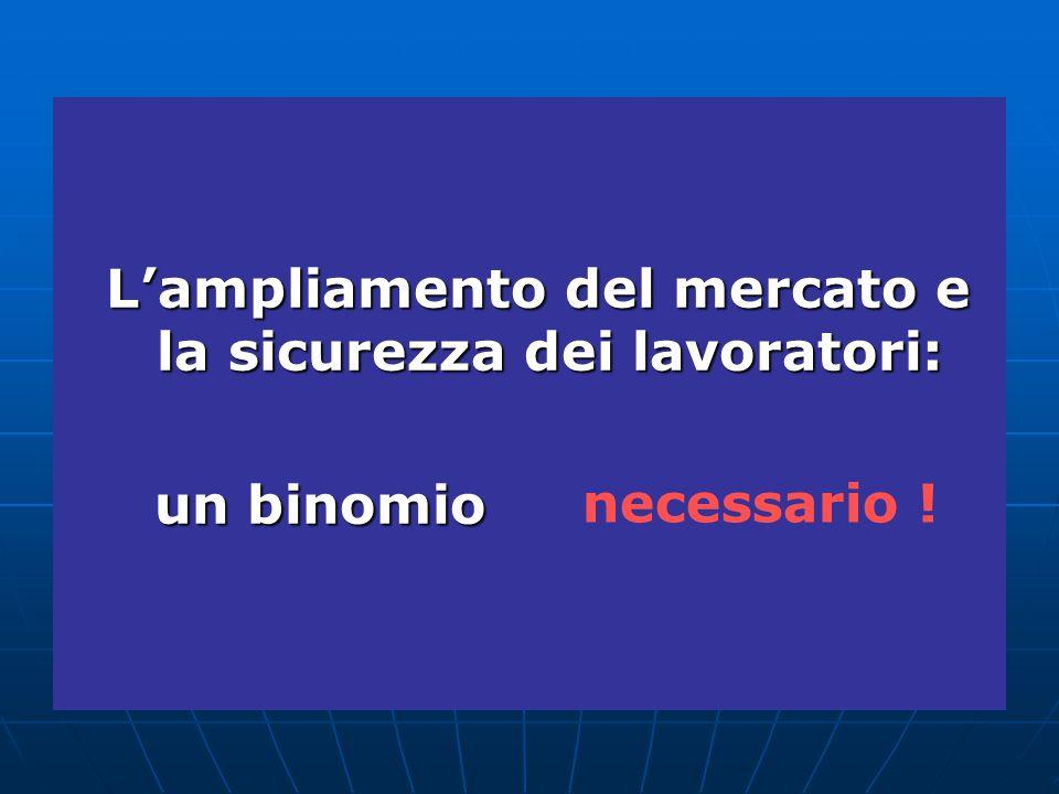 L'ampliamento del mercato e la sicurezza dei lavoratori: un binomio necessario !