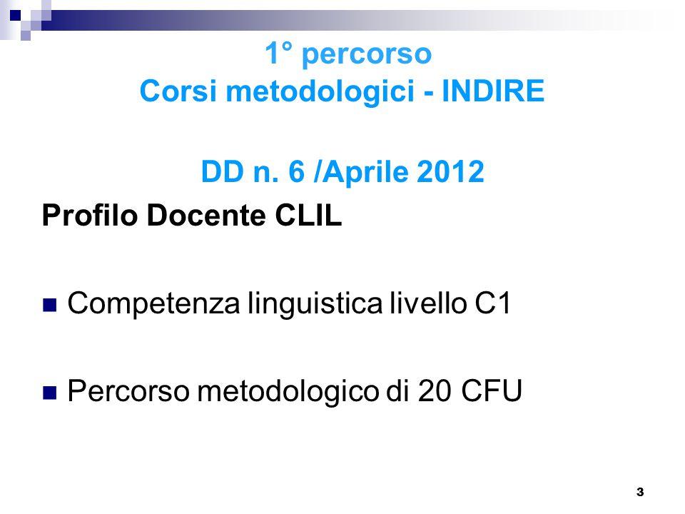14 I corsi CLIL in Liguria (nota USR Liguria n.8553 del 4 dicembre 2014) Nota MIUR n.