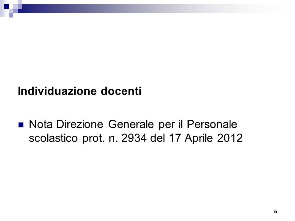 55 Individuazione docenti Nota Direzione Generale per il Personale scolastico prot.